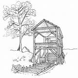 Mill Coloring Watermill Designlooter Drawings Template 800px 32kb sketch template