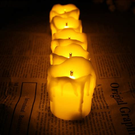 flameless tea lights with timer aliexpress com buy set of 12 amber flameless led candles