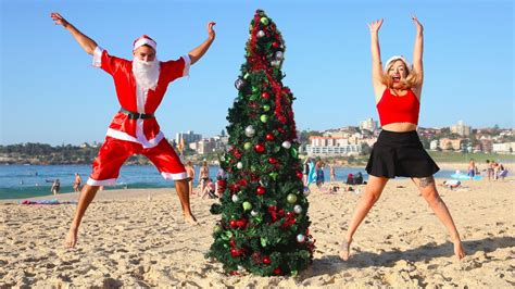 in australia a traveler s christmas is spent down at the beach