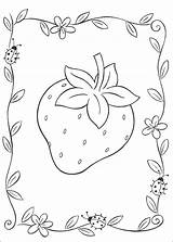 Strawberry Coloring Pages Pretty sketch template