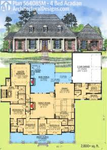 House Plans With Outdoor Living by Plan 56408sm 4 Bed Acadian With Generous Outdoor Living