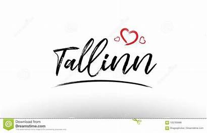 Tourism Tallinn Heart European Europe Icon