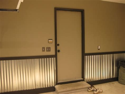 Metal Wainscoting Ideas by I Like This Style Garage For Yr2 At Least One Of The