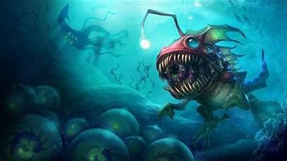 Monster Ocean Backgrounds Sea Deep Monsters Background