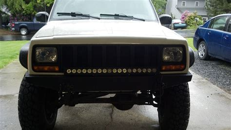 jeep light bar grill led lightbar behind grille jeep cherokee forum