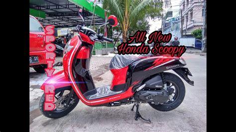 Modifikasi Honda Scoopy 2018 by 50 Modifikasi Scoopy 2018 Warna Merah Terbaru Dan Terlengkap