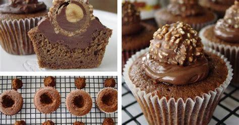 cupcakes cup nutella cupcakes  ferrero rocher