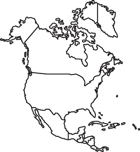 map north america  vector graphic  pixabay