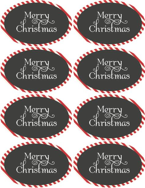 christmas holiday assorted circle  oval labels
