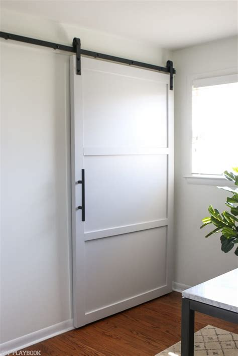 how to make a barn door how to create a neutral office space with lots of secret