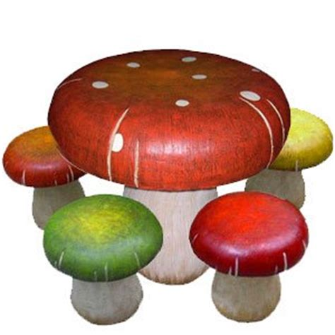 mushroom table and chairs set amazon com kids fun mushroom table and toadstool chair