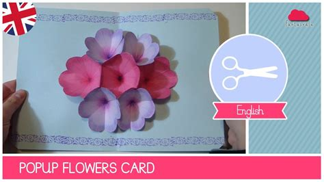 mothers day greeting card  pop  flowers diy ideas