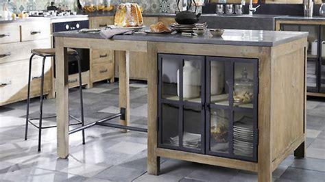 ilot central cuisine fly meuble ilot cuisine ilot industriel plateau pin avec