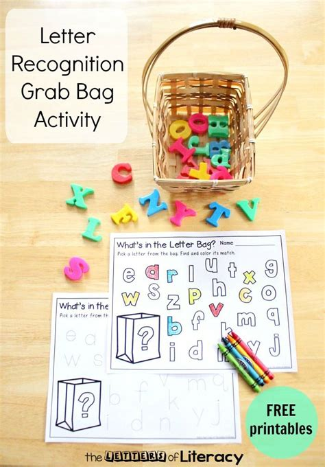 Letter Recognition Grab Bag With Free Alphabet Printable  Free Printables, Kindergarten And