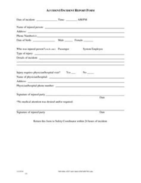 incident report form incident report template incident