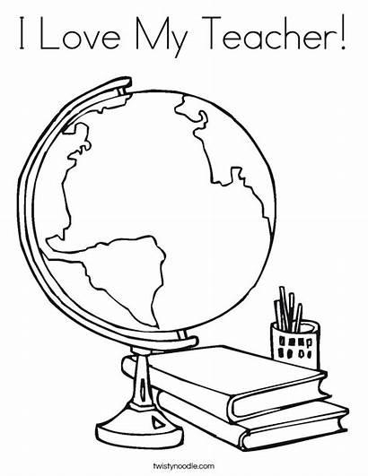 Coloring Teacher Globe Twistynoodle