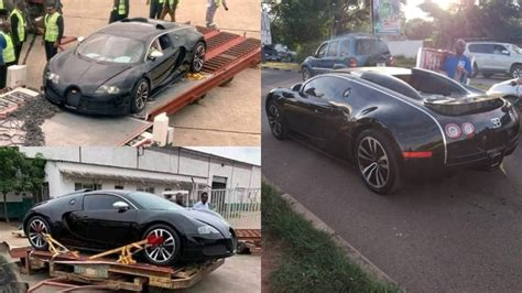 A $2.8m bugatti veyron has been seized by the authority in zambia on monday february 24, 2020 after it arrived the country hrough kenneth kaunda international airport. $2.8m Bugatti Veyron seized in Zambia, owner's source of income now being investigated (Video ...