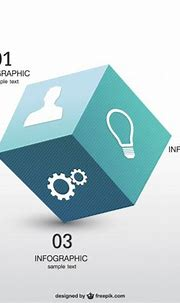 3d cube infographics | Free Vector