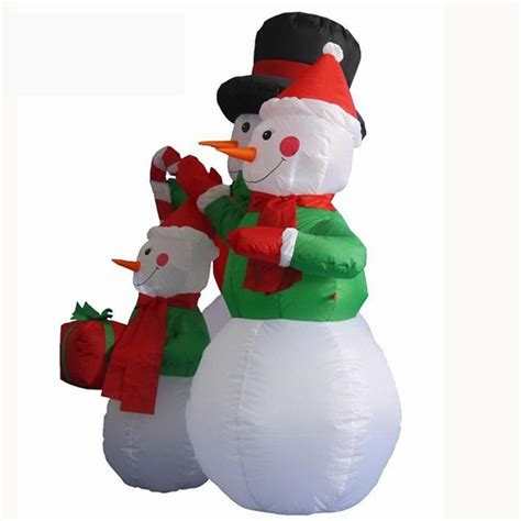 outdoor lighted snowman decorations large outdoor christmas inflatable snowman decorations