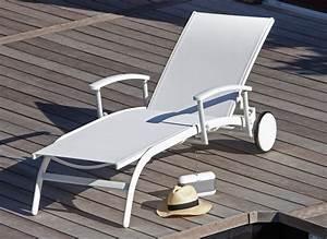 Bain De Soleil Avec Accoudoir : bain de soleil r glable avec accoudoirs l gance oc o proloisirs ~ Teatrodelosmanantiales.com Idées de Décoration
