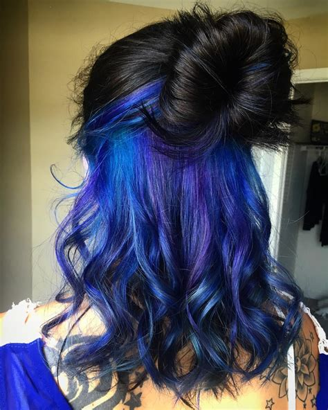 Blue Black And Hair by 35 Stunning Blue And Purple Hair Ideas Colors