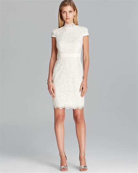 dresses to wear for a wedding 10 white dresses to wear to your wedding reception dipped in lace