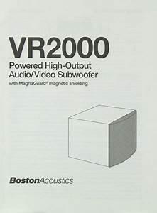 Boston Acoustics Vr 2000 Manual