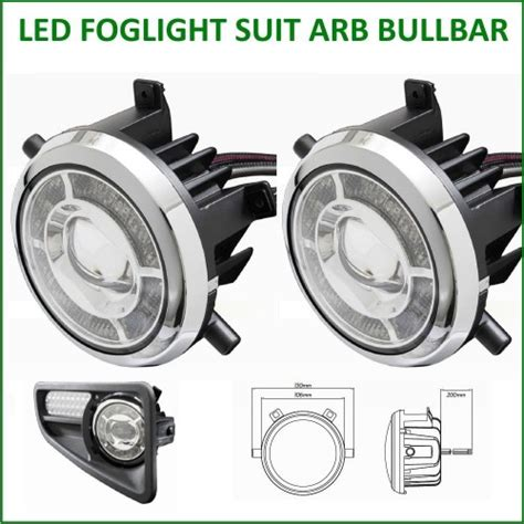 led foglight suit arb bullbar direct replacement adr 4wd