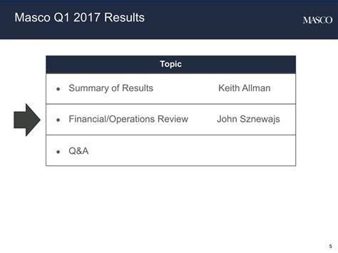 Masco Corporation 2017 Q1 - Results - Earnings Call Slides ...