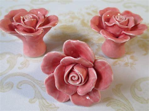 pink flower dresser knobs flower dresser knobs pink ceramic drawer pulls