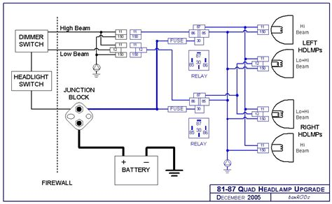 Relay Headlight Wiring Diagram by Headlight Relay Harness Upgrade