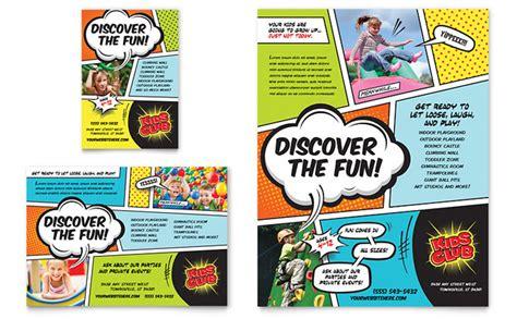 kids club flyer ad template design