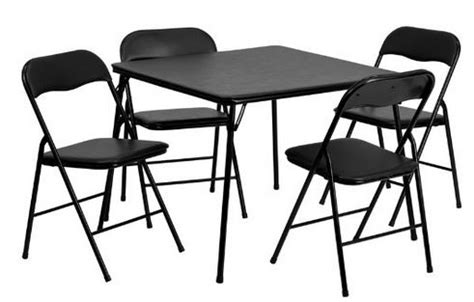 kohls folding table and chairs save 113 5 pc folding card table and chair set only 59