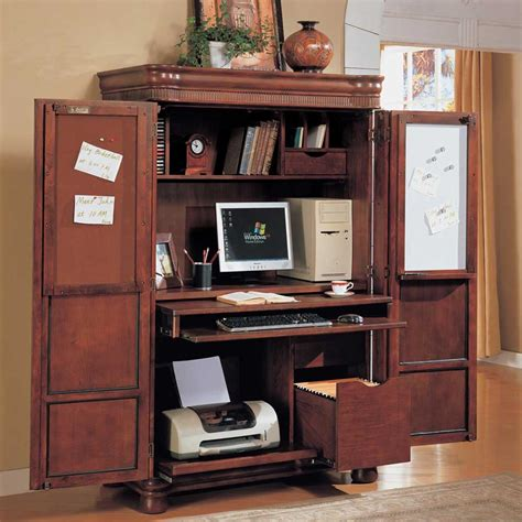 armoire bureau ikea computer corner armoire to facilitate your work