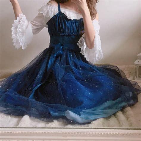 {Free Shipping }Galaxy Blue/Black Starry Fairy Dress SP179990 - SpreePicky