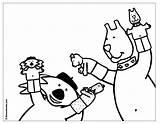 Coloring Coloriage Marionnette Puppet Imprimer Wolf Cochon Marionnettes Numero Loup Animaux Kleurplaten Popular Kleurplaat Coloringhome Bowl sketch template
