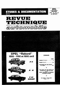 Opel Rekord Pii A B C Sprint Technical Revue Pdf  7 8 Mb