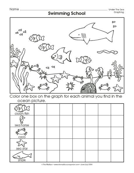 crafts actvities and worksheets for preschool toddler and 542 | ocean animal worksheet 2