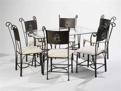 chaises fer forgé conforama ensemble table rectangulaire 6 chaises cafe conforama