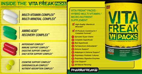 vita freak 30 packs pharma freak