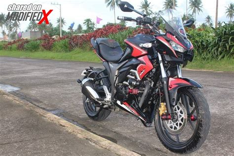 Modified Gixxer Bike by Suzuki Gixxer Modified Z1000 Inspired Tourer Modifiedx