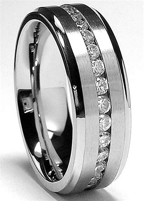 wedding rings men titanium mens wedding rings wedding promise 1049