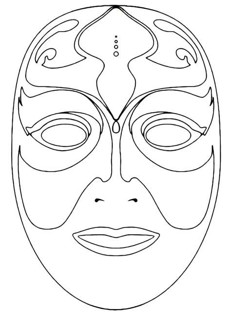 maschera venezia da colorare bimbi  carta