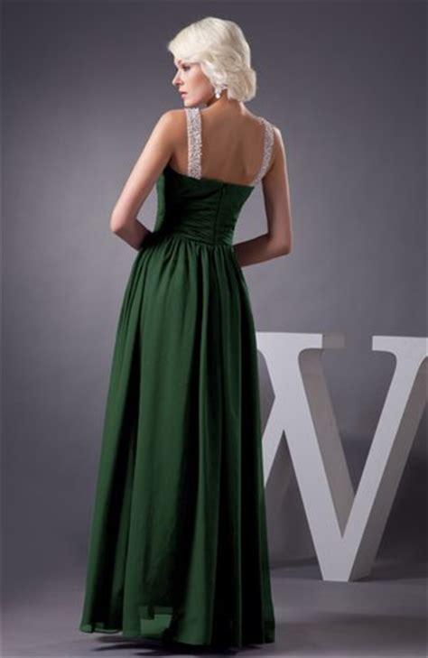hunter green chiffon bridesmaid dress country chic summer