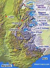 French Alps Ski Resorts Map