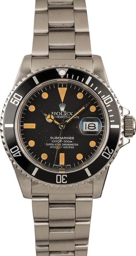 Buy Used Rolex Submariner 16800 | Bob's Watches - Sku: 127302
