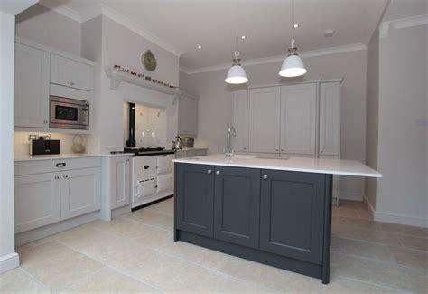 kitchen island ideas ashbourne light grey graphite island masterclass