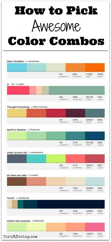 awesome color combinations how to awesome color combos thrift and color