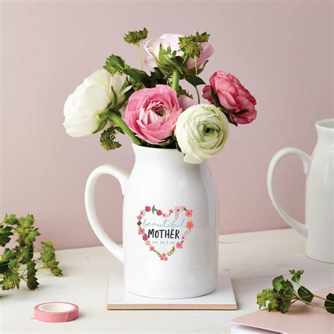 Flowers In Small Vases by Personalised Floral Small Flower Vase By Tillie Mint