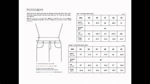 Size Chart - Denim Pants For Men U0026 39 S  U0026 Women U0026 39 S